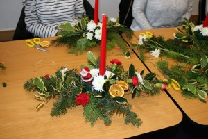Active Age Group Christmas Flower Arranging 2016